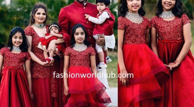 Manchu Vishnu Family in matching outfits!