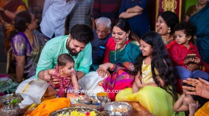 Few more pics :- Singer geetha madhuri daughter Annaprasana photos
