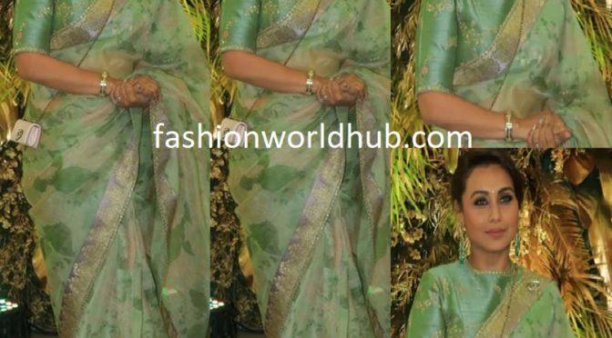Rani Mukerji in Sabyasachi Saree at Armaan Jain's wedding!