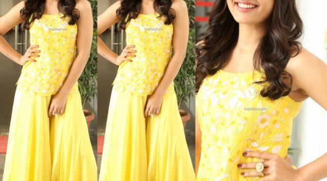 Rashmika Mandana in yellow Ethnic look!