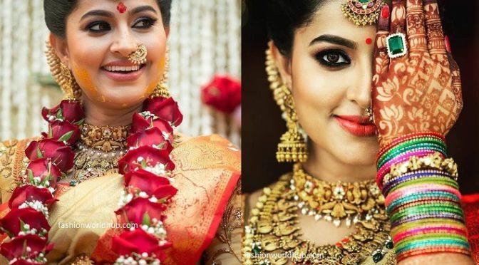 Actress Sneha in Antique jewellery