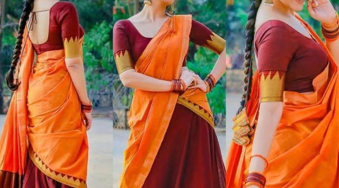Anasuya Bharadwaj in a Traditional half saree!