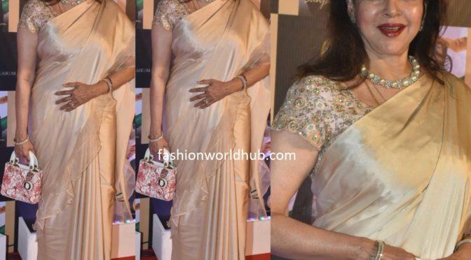 Hema Malini in a ruffle saree