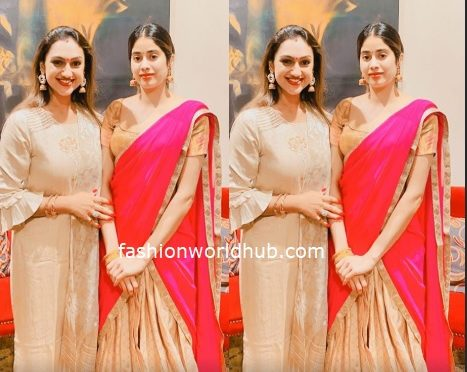 Pritha hari and Janhvi Kapoor in Traditional outfit!