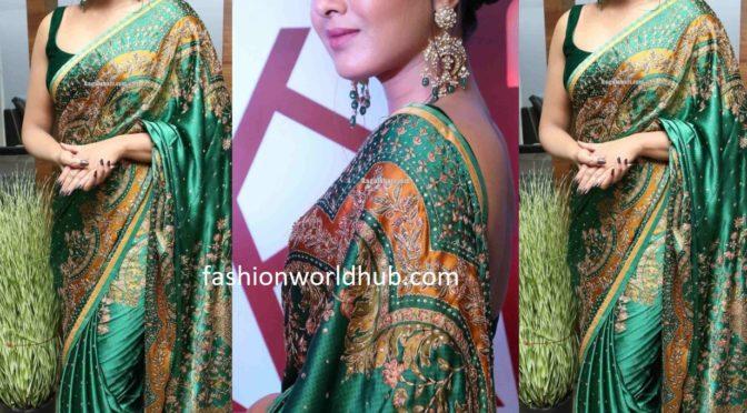 Catherine Tresa in Ritu Kumar at Bazaar Hyderabad Launch