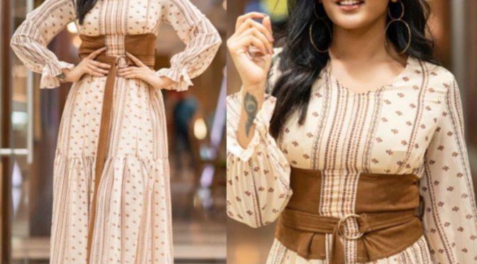 Eesha Rebba in Printed Maxi dress!