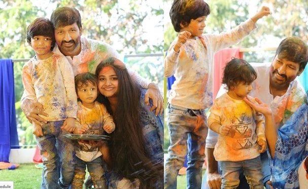 Gopichand family Holi pics!