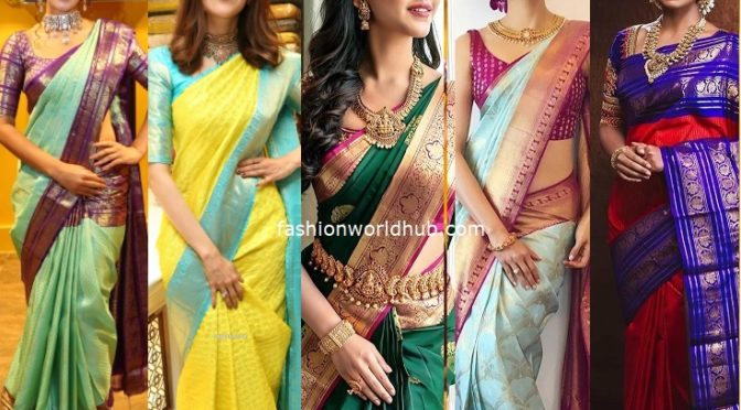Top 10 Kanjeevaram sarees that are trending now!