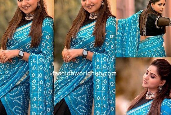 Rachita Ram in a Traditional half saree!