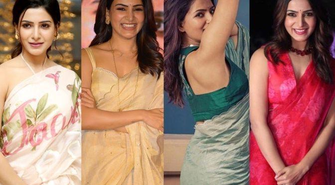 Samantha akkineni saree styles for 'Jaanu' movie promotions!!