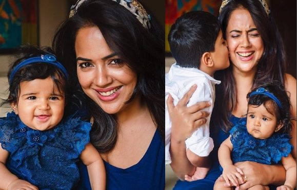 Sameera Reddy and her daughter in matching outfits!