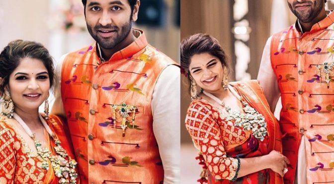 Manchu Vishnu and  Viranica in Matching outfits!