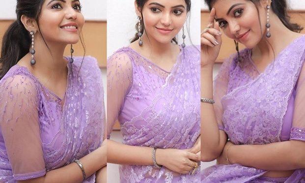 Athulya Ravi in a lavender saree!