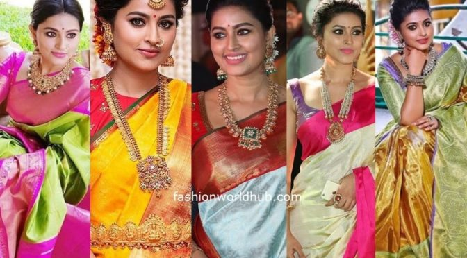 Actress Sneha prasanna in Traditional outfit and Jewellery looks!