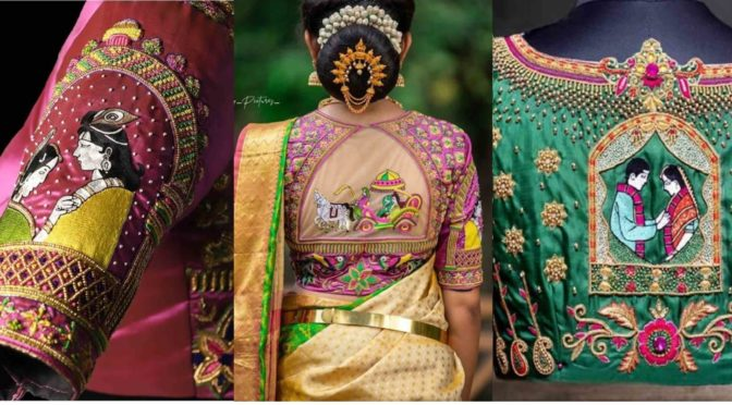 Beautiful and Unique Wedding Blouse Designs!