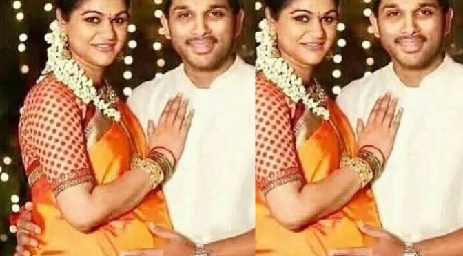 Throw back pic!! Allu Arjun an Allu sneha!
