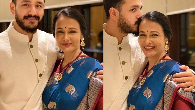 Amala Akkineni in a blue saree!