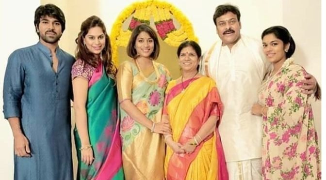 Mega star Chiranjeevi Family in Traditional outfit!