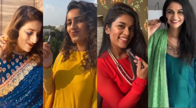 Sneha Reddy, Sreeja kalyan, Niharika and her sister's lock down fun makeup video!
