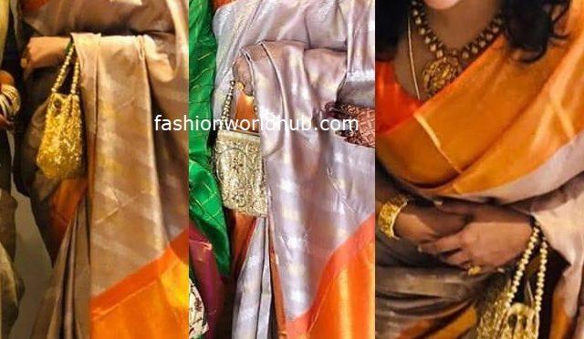 Actress Meena in a kanjeevaram saree!