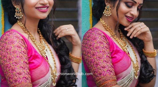 Nakshathra Nagesh in a Silk saree!