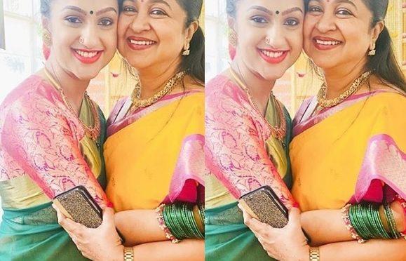 Pritha hari and Radhika sarathkumar in a traditional saree!