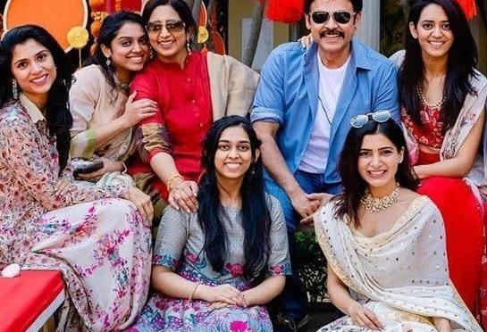 Samantha with Venkatesh family!