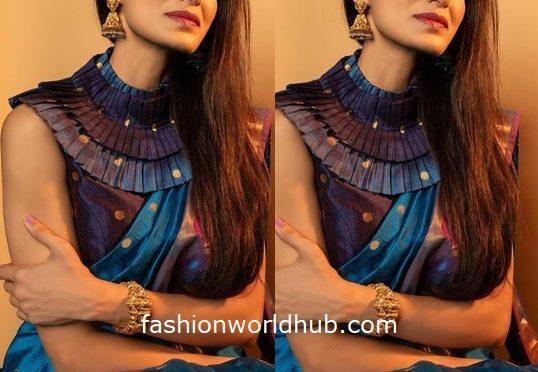 Shilpa Reddy in a Handloom saree!