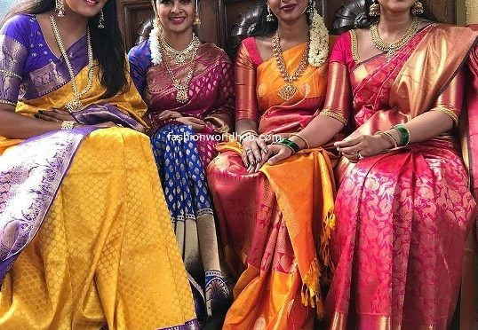 Himaja,Sneha and Madhumitha in a Silk saree!