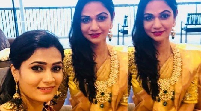 Allu Sneha reddy and Neela Shah in Polki dimaond mango haram!