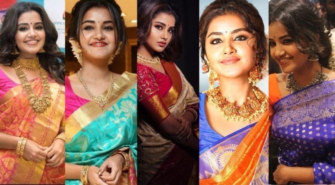 Anupama Parameswaran stuns in Traditional Silk sarees!