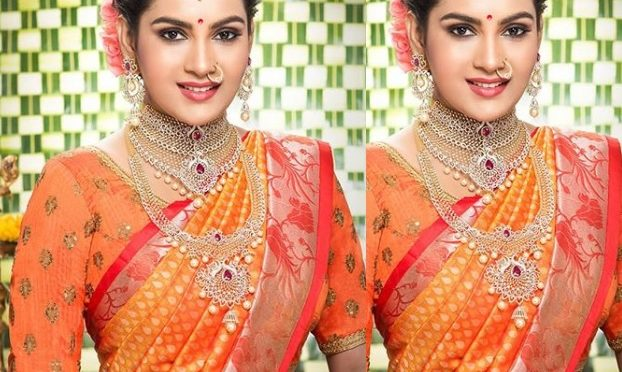 Himaja in a Bridal diamond jewellery!