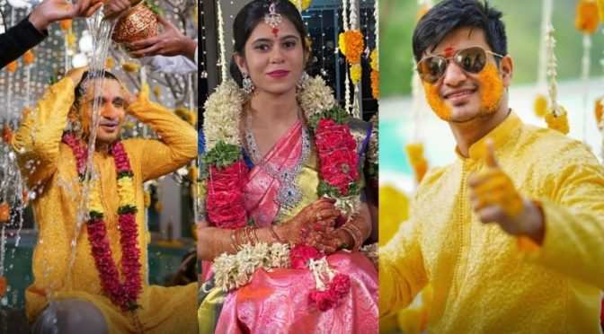 Nikhil Siddhartha and Pallavi Varma's Haldi function photos!