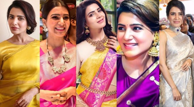 Gorgeous Samantha stuns in Traditional Sarees!