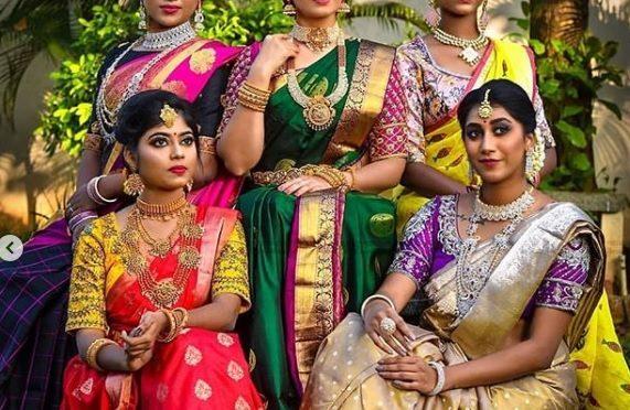 Kanjeevaram silk sarees by Kajam Silks