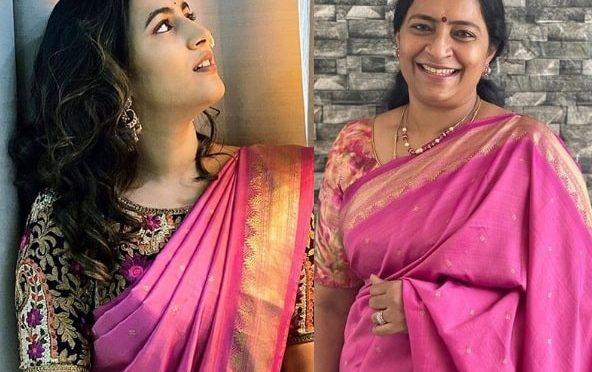 Niharika konidela gives her mom's saree a modern look!