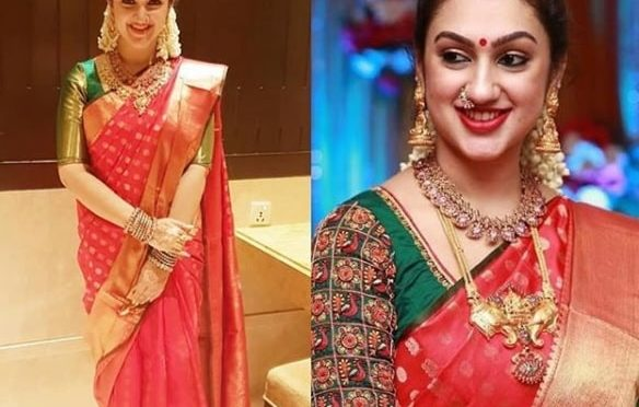 Sridevi vijaykumar gives her sister's saree a simple look!
