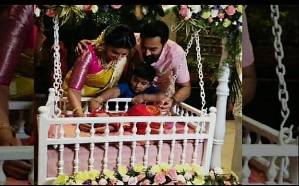 Actress Sneha prasanna Daughter Naming and Cradle Ceremony photos!