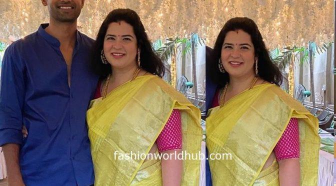 Rayane Mithun in a Kuppadam pattu saree!