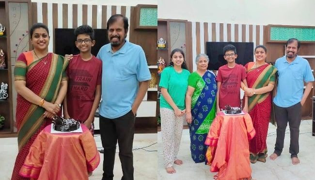 Actress Roja Selvamani son Kaushik Birthday pics!