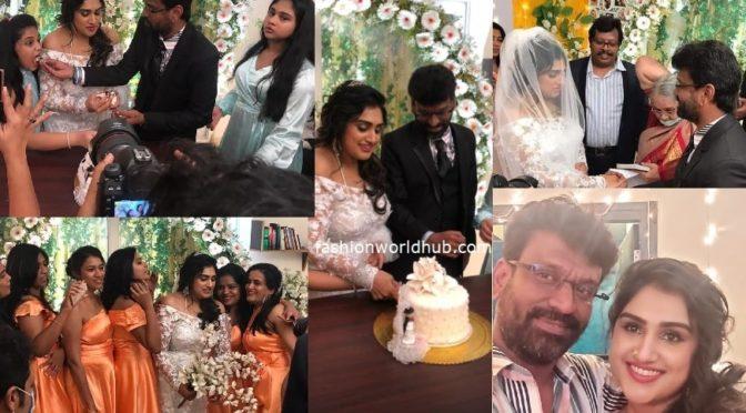 Vanitha Vijaykumar marries Peter Paul in Christian ceremony !