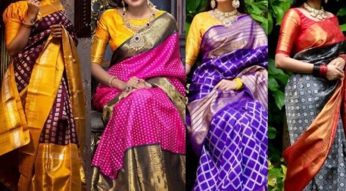Mind blowing Kanjeevaram saree collections from Kalpavruksh!