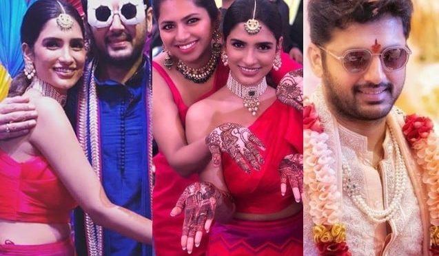 Nithiin and Shalini's  Pellikoduku and Pellikuthuru Function photos!