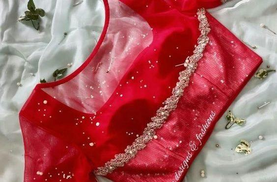Mind blowing designer sarees with designer blouses!