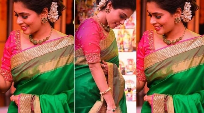 Anchor Kiki Vijaya in Anju Shankar!