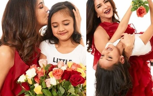Lakshmi manchu and her daughter in matching outfits!