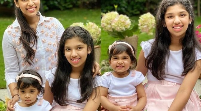 Sreeja Kalyan and her daughters in Matching outfits!
