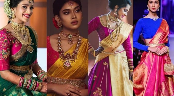 Try kanjeevaram sarees in Traditional and stylishly fashionable ways!