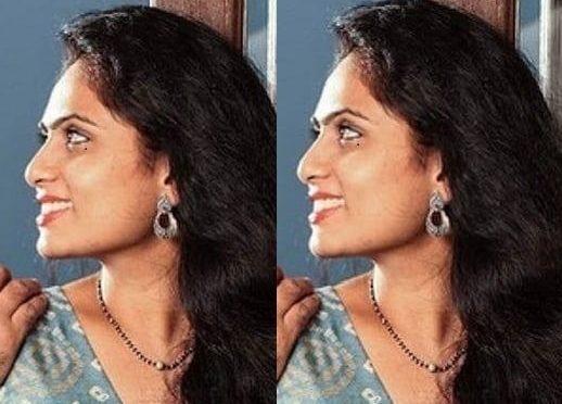 Dilraju wife Vygha reddy in black beads with diamond pendant!