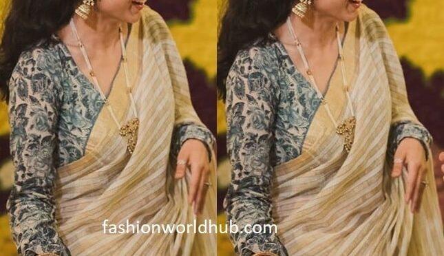 Rana's sister Malavika Daggubati in a handloom saree!